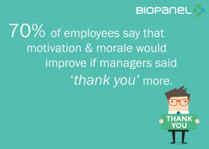 Thank employees more